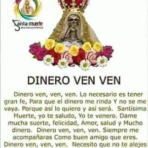 oracion para pedir dinero a la santa muerte