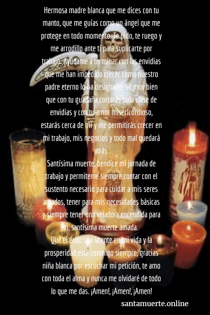 Oración a la Santa Muerte para el trabajo y dinero