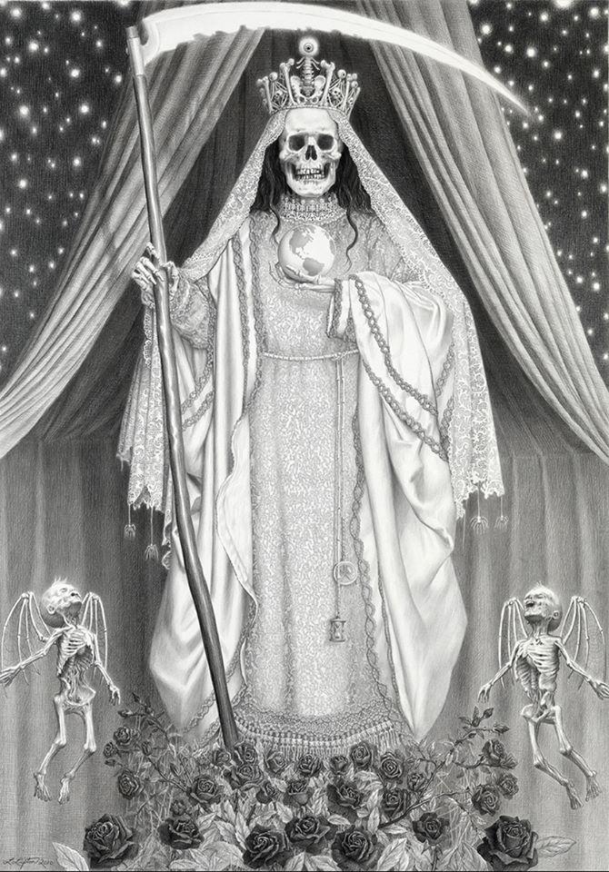 santa muerte niña blanca