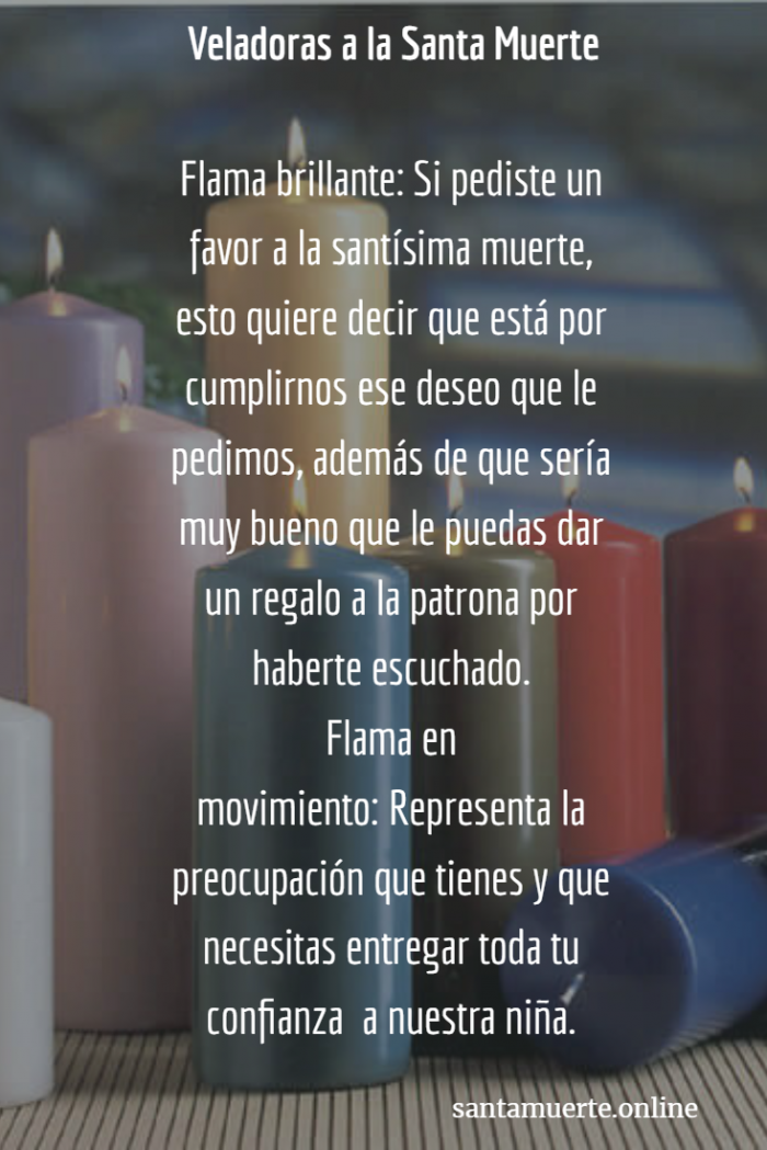 significados de las veladoras a la santa muerte