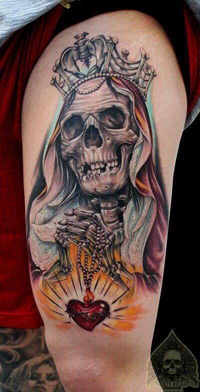 tatuajes de la santa muerte brazo