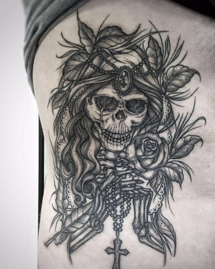 Tatuajes de la Santa Muerte | Las mejores Ideas para Agradecerle