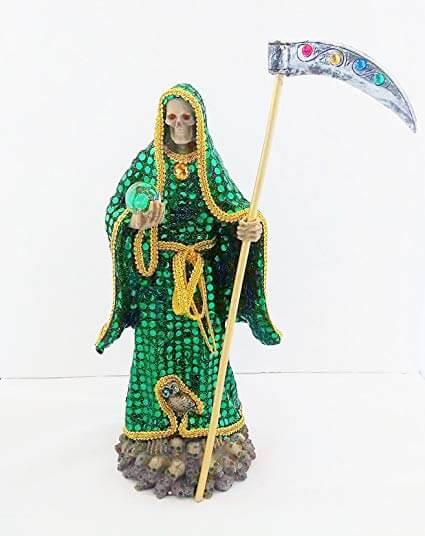 santa muerte verde