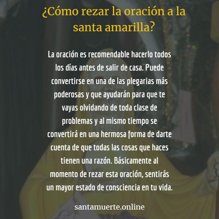 oración a la santa muerte amarilla