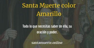 santa muerte color amarillo