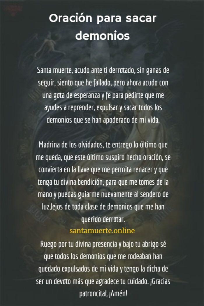 oración para sacar demonios