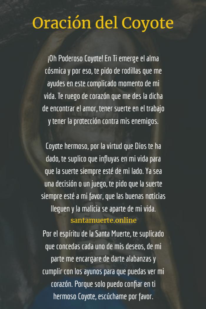 oración del coyote