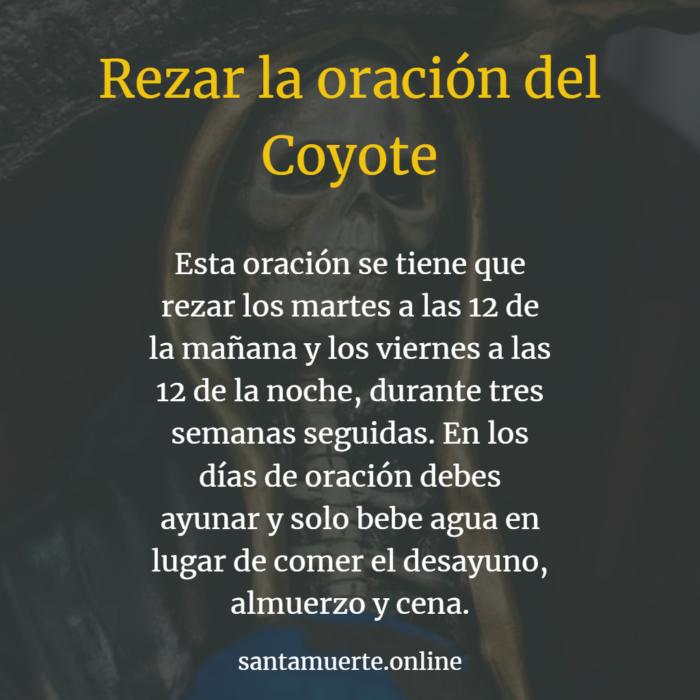 rezar la oración del coyote