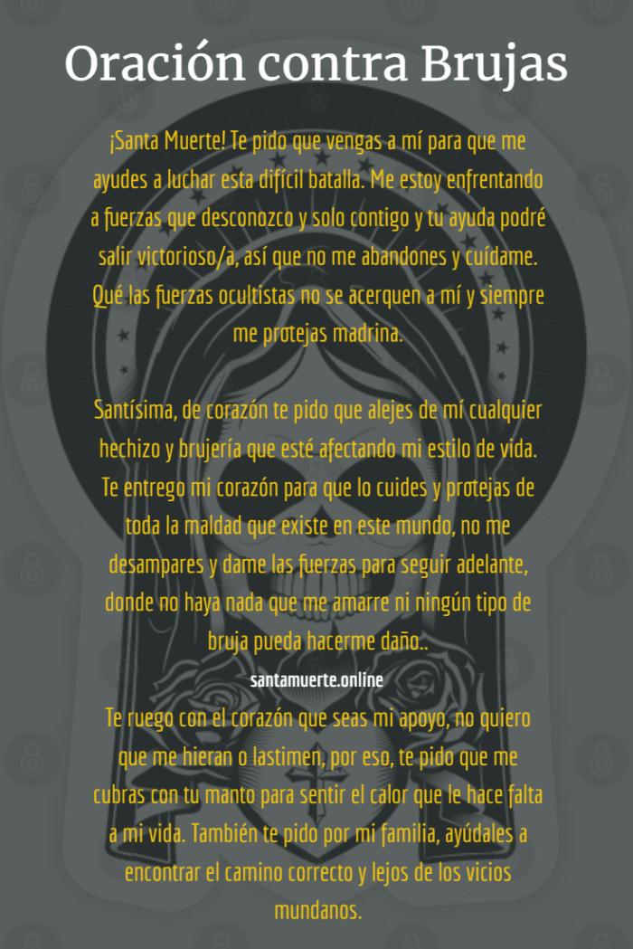 oración contras las brujas